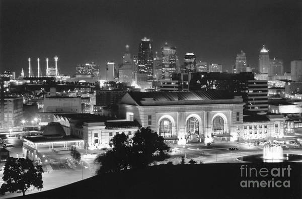 Union Station In Black And White Poster