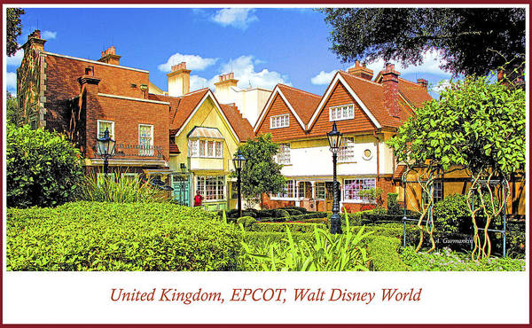 United Kingdom Buildings, Epcot, Walt Disney World Poster