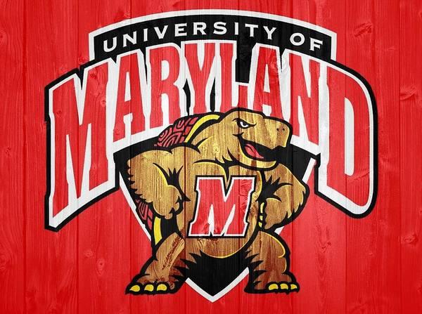 University Of Maryland Barn Door Poster