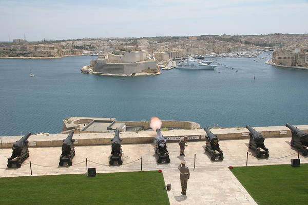 Poster featuring the photograph Upper Barrakka Saluting Battery by Travel Pics