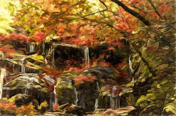 Upper Catawba Falls North Carolina Poster