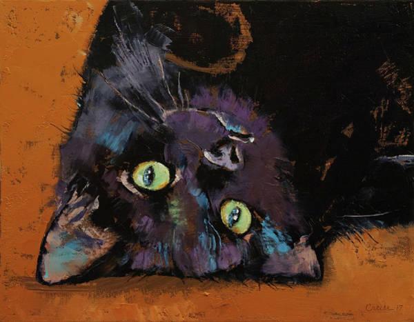 Upside Down Kitten Poster