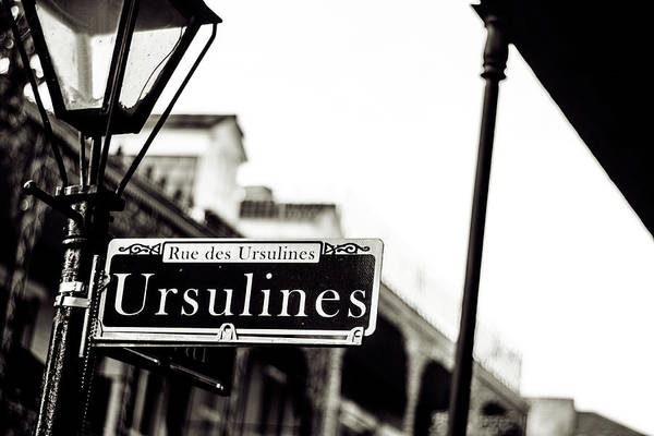 Ursulines In Monotone, New Orleans, Louisiana Poster