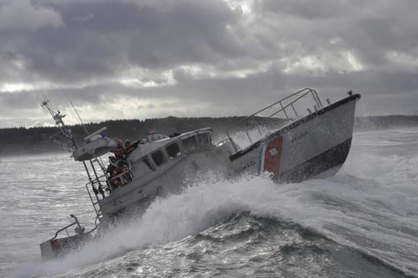 U.s. Coast Guard Motor Life Boat Brakes Poster