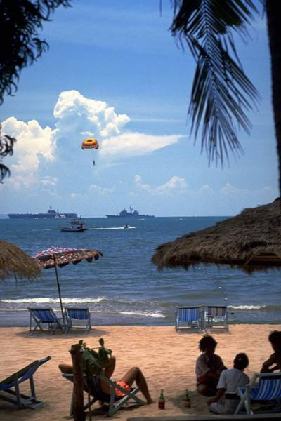 Poster featuring the photograph Us Navy Off Pattaya by Travel Pics