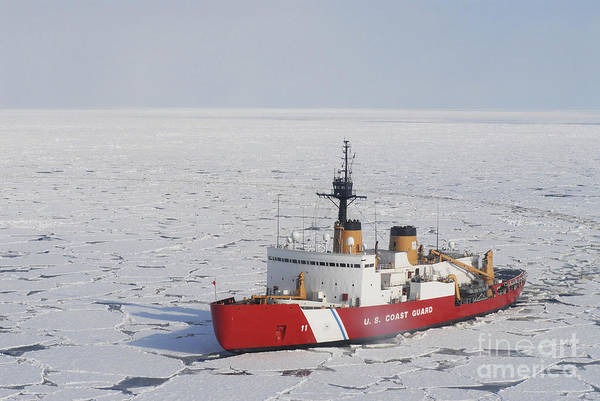 Uscgc Polar Sea Conducts A Research Poster