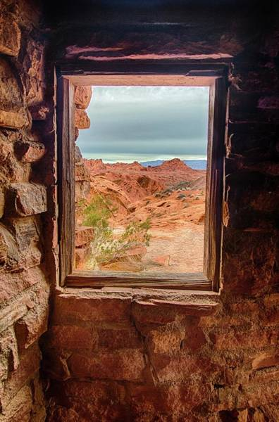 Valley Of Fire Window View Poster