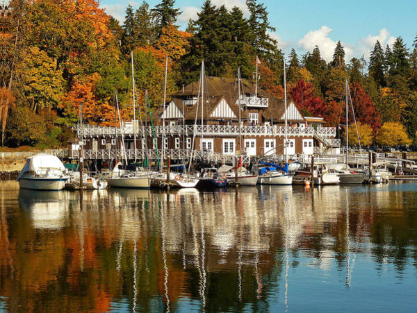 Vancouver Rowing Club In Autumn Poster