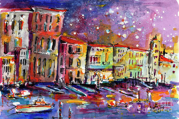 Venice Reflections Celebrating Italy Painting Poster