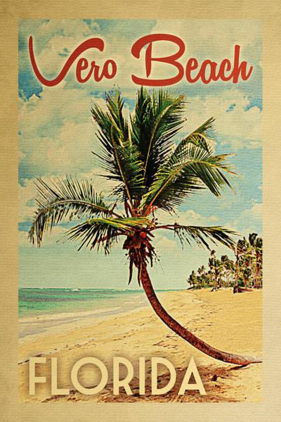 Vero Beach Florida Palm Tree Poster