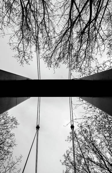 Poster featuring the photograph Vertical Bridge In Bw by Nikos Stavrakas