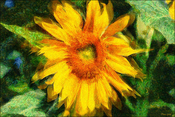 Very Wild Sunflower Poster
