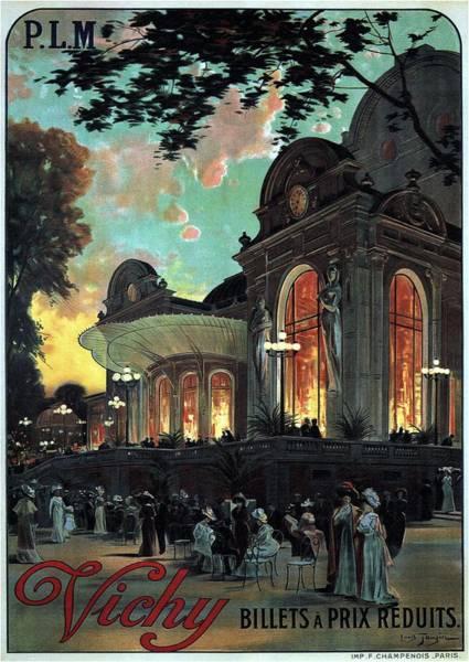 Vichy, France - Billets A Prix Reduits - Retro Travel Poster - Vintage Poster Poster