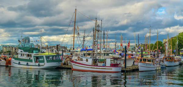 Victoria Harbor Boats Poster