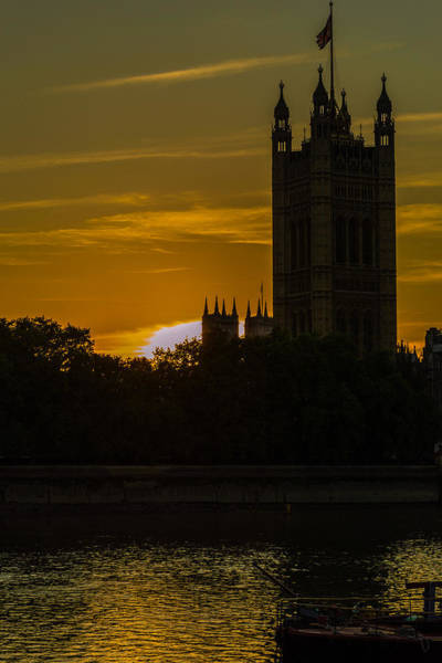 Victoria Tower In London Golden Hour Poster