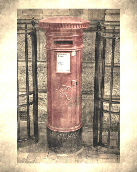 Victorian Red Post Box Poster