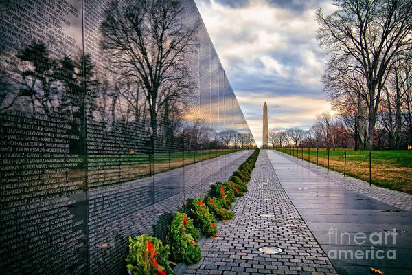 Vietnam War Memorial, Washington, Dc, Usa Poster