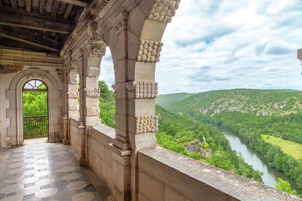 View Fron Chateau De Bruniquel Poster