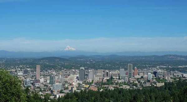 View Of Downtown Portland Oregon From Pittock Mansion Poster