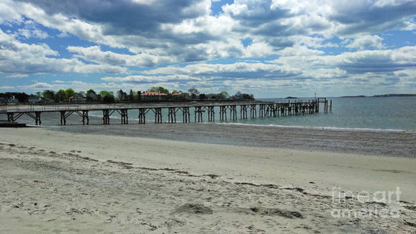 View Of Pier. Fisherman's Beach, Swampscott, Ma Poster