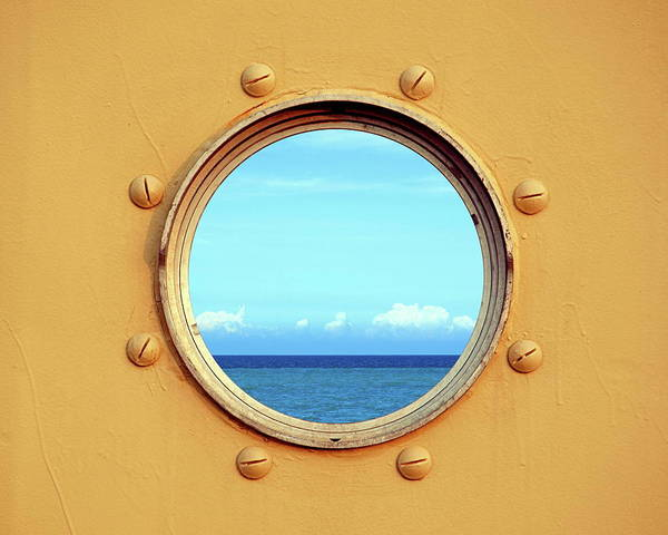 View Of The Ocean Through A Porthole Poster