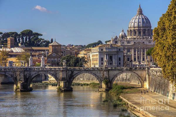 View Towards Saint Peter's Basilica Poster