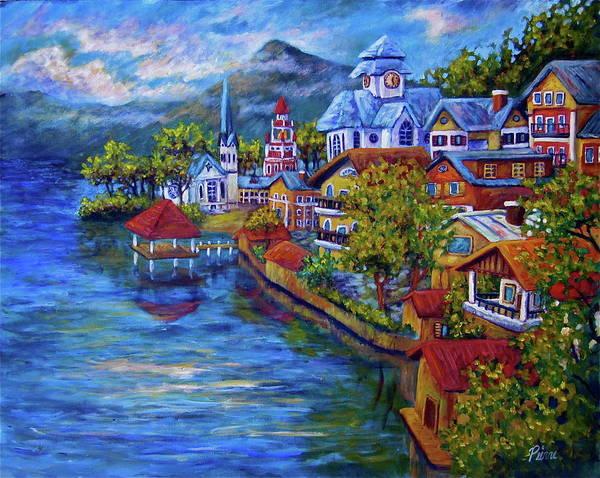 Village On The Lake Poster