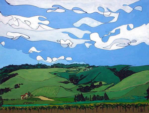 Vineyard Landscape 1 Poster