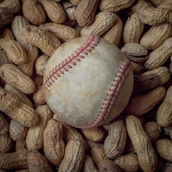 Vintage Baseball And Peanuts Square Poster