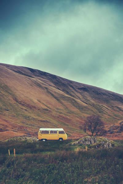 Vintage Camper Van In The Wilderness Poster