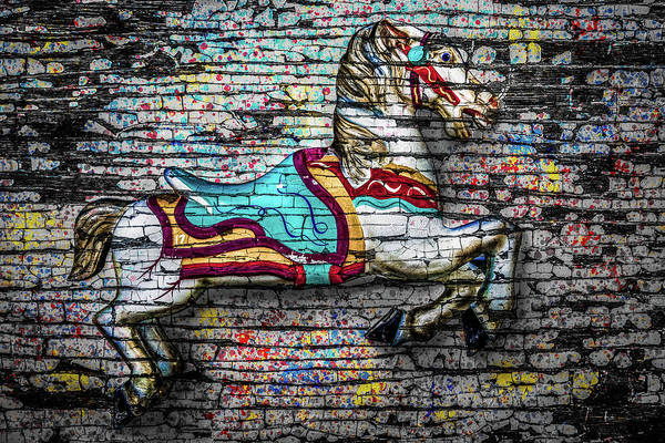 Vintage Carousel Horse Poster
