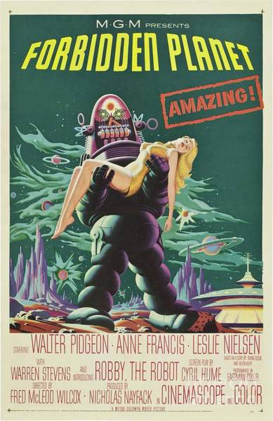Vintage Classic Movie Posters, Forbidden Planet Poster