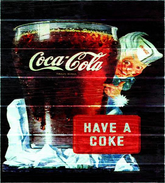 Vintage Coca Cola Sign 1d                     Poster