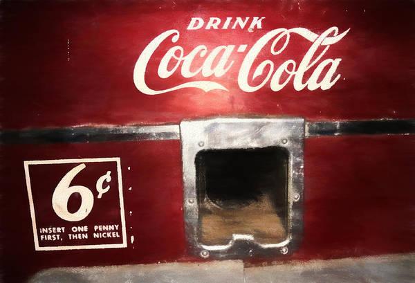 Vintage Coca Cola Vending  Poster