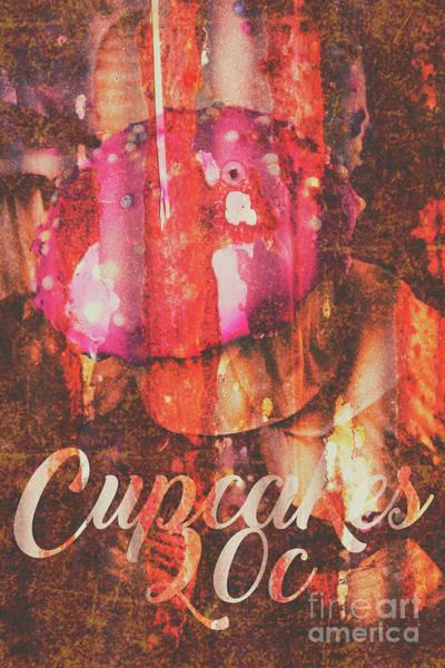 Vintage Cupcake Tin Sign Poster