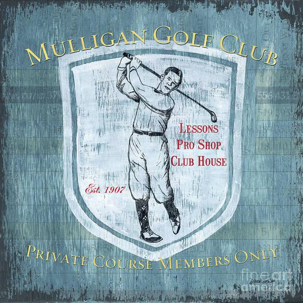 Vintage Golf Blue 1 Poster