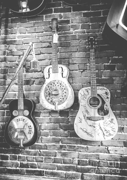 Vintage Guitar Trio In Black And White Poster
