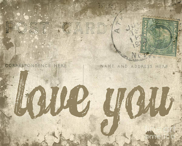 Poster featuring the photograph Vintage Love Letters by Edward Fielding