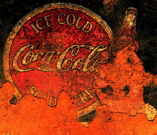 Vintage Metal Coca Cola Sign 1a                      Poster