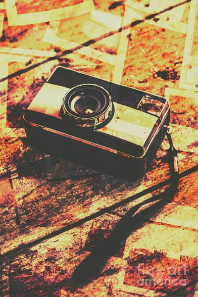 Vintage Old-fashioned Film Camera Poster