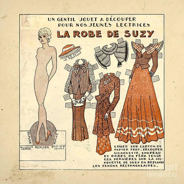 Vintage Paper Doll Poster