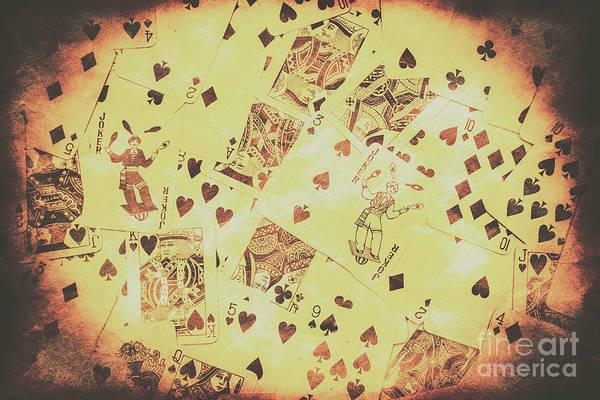 Vintage Poker Card Background Poster