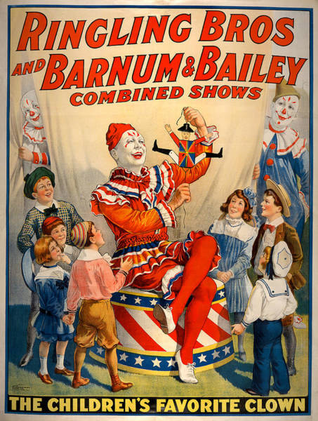 Vintage Ringling Brothers And Barnum And Bailey Combined Circus Poster