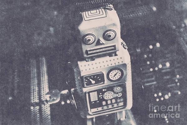 Vintage Robot Toy Poster