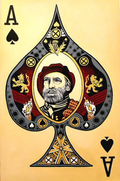 Vintage Scottish Ace Of Spades Poster