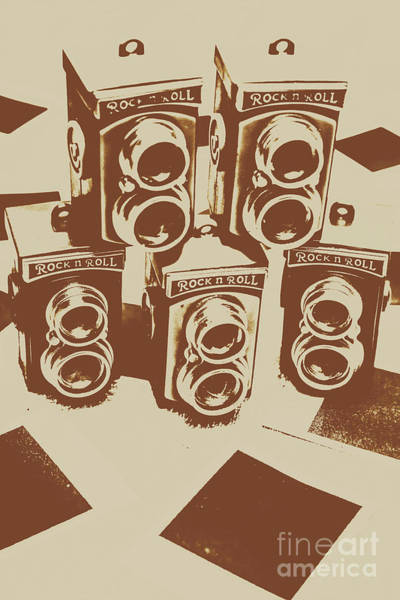 Vintage Snapshots And Old Cameras Poster