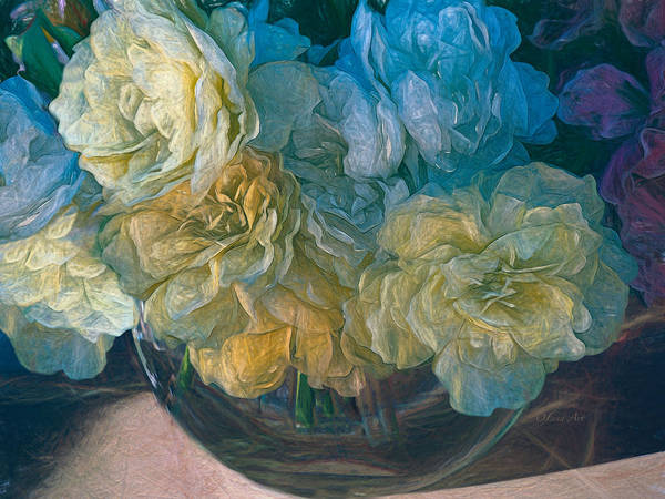 Vintage Still Life Bouquet Painting Poster