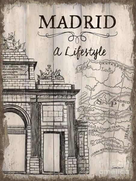Vintage Travel Poster Madrid Poster