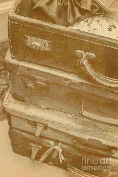 Vintage Travel Stack Poster