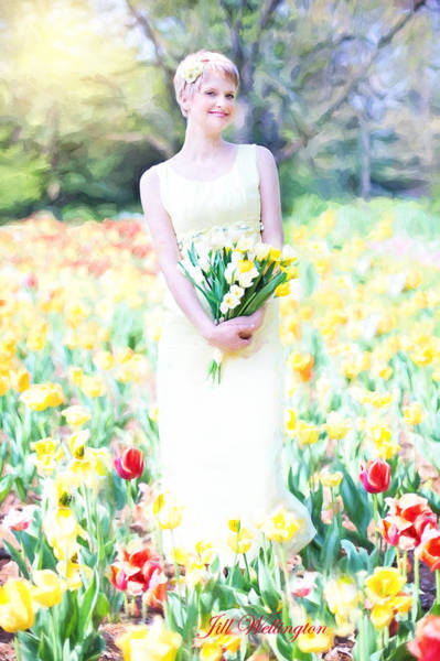 Vintage Val Spring Tulips Poster